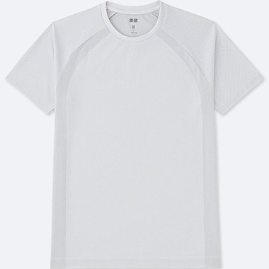MEN DRY EX SHORT SLEEVE CREWNECK T-SHIRT, OFF WHITE, medium