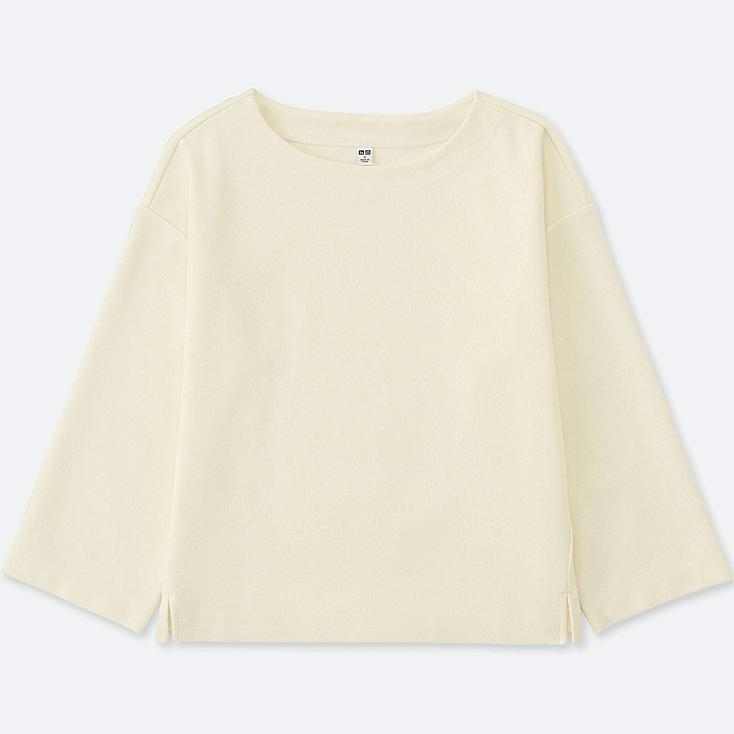 WOMEN Milano Ribbed Cut Sewn Wide Sleeve T