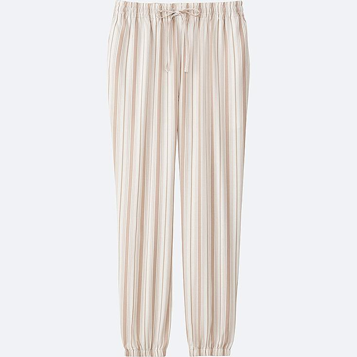 WOMEN DRAPE PANTS, OFF WHITE, large