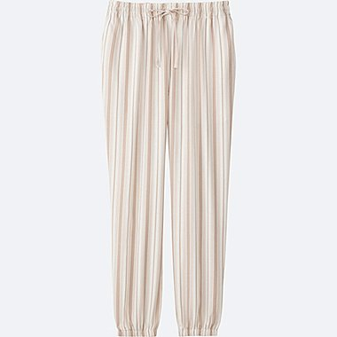 WOMEN DRAPE PANTS, OFF WHITE, medium
