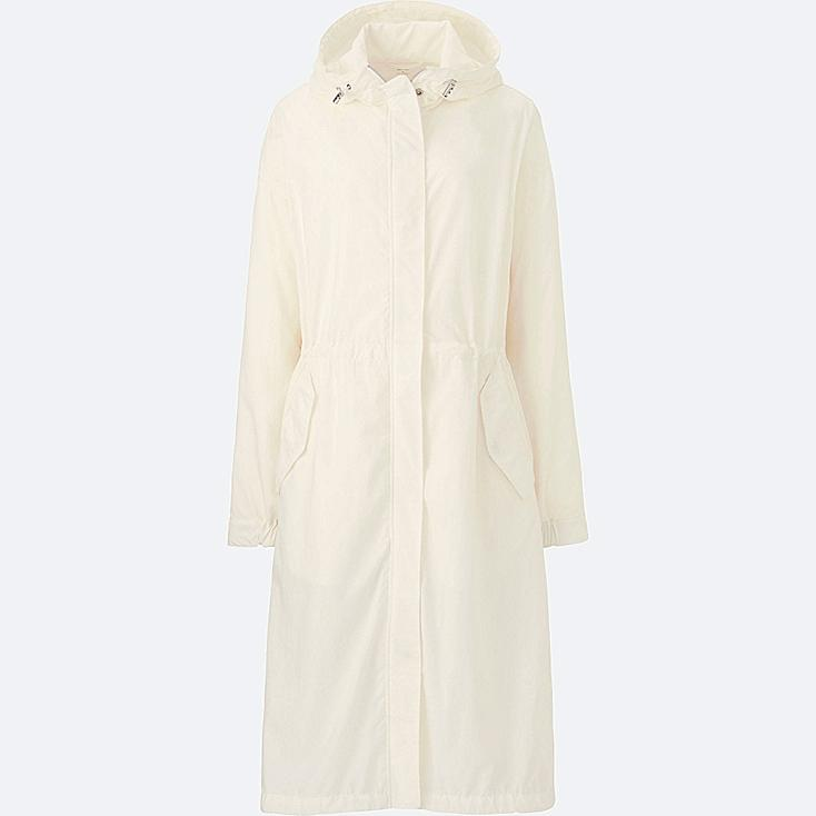 WOMEN OVERSIZED LONG PARKA, OFF WHITE, large