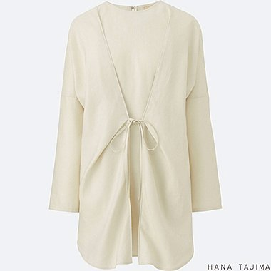 WOMEN Silk Touch Linen Tie Tunic