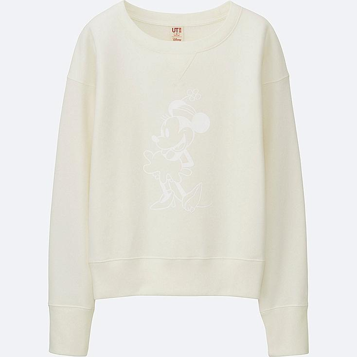 WOMEN DISNEY COLLECTION SWEATSHIRT, OFF WHITE, large
