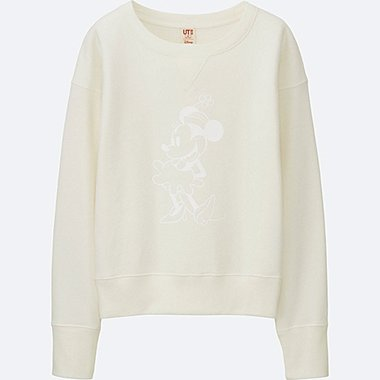 WOMEN DISNEY COLLECTION SWEATSHIRT, OFF WHITE, medium