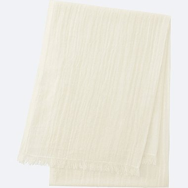 COTTON LINEN STOLE, OFF WHITE, medium
