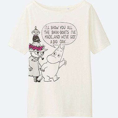 WOMEN Moomin Short Sleeve Graphic T-Shirt