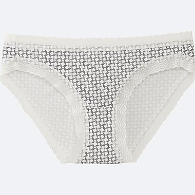 WOMEN BIKINI (GEOMETRIC), OFF WHITE, medium