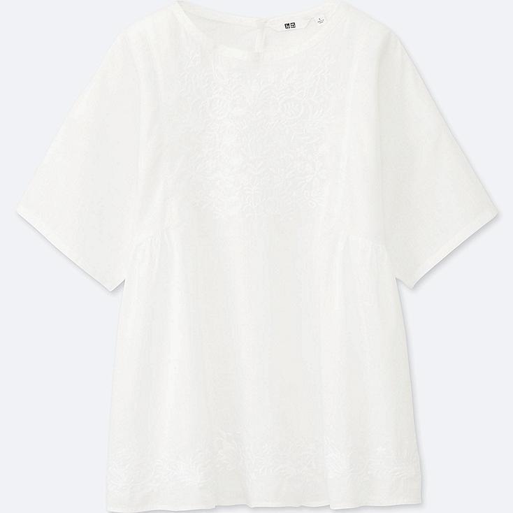 WOMEN Cotton Lawn Short Sleeve T Blouse