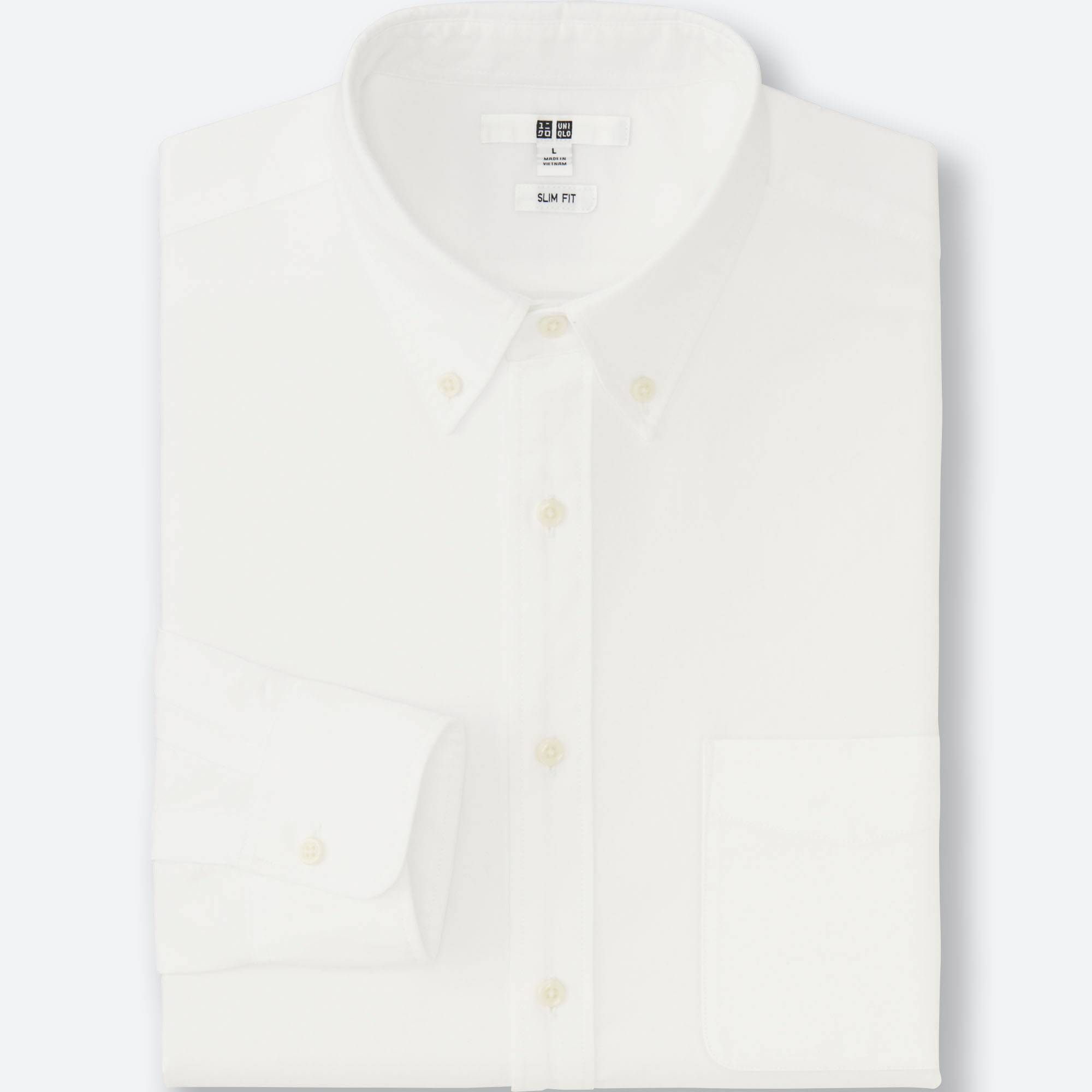 Men Oxford Slim-Fit Long Sleeve Shirt | UNIQLO US