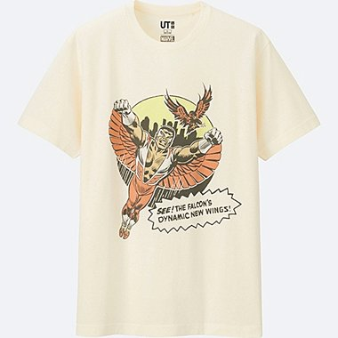 MEN MARVEL COLLECTION SHORT SLEEVE GRAPHIC T-SHIRT, OFF WHITE, medium