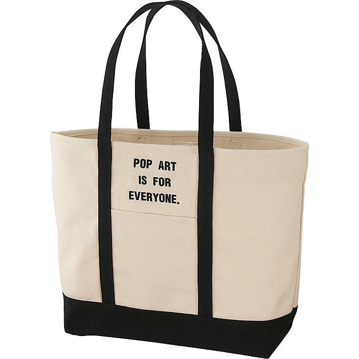 SPRZ NY TOTE BAG (ANDY WARHOL), OFF WHITE, large