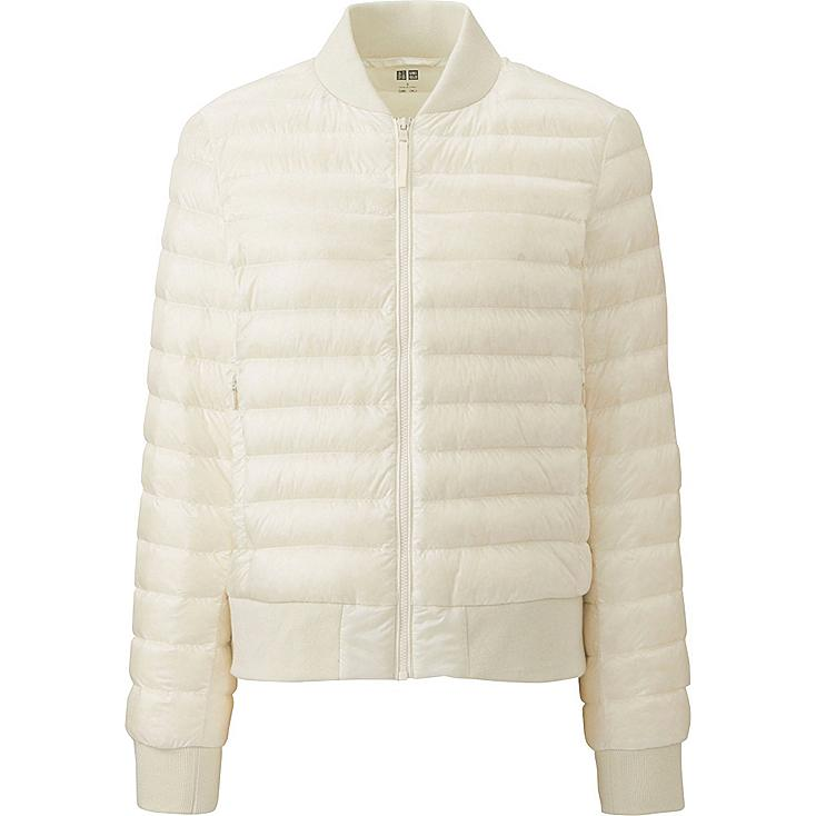 WOMEN Ultra Light Down Ribbed Blouson