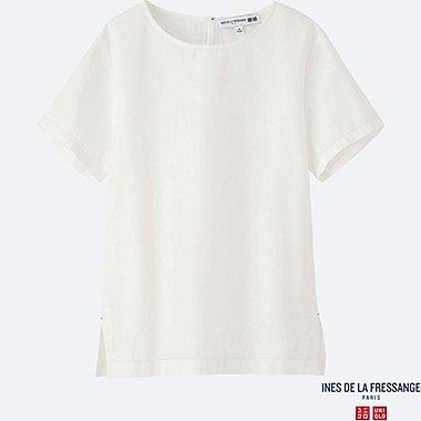 WOMEN INES Crepe Short Sleeve Blouse