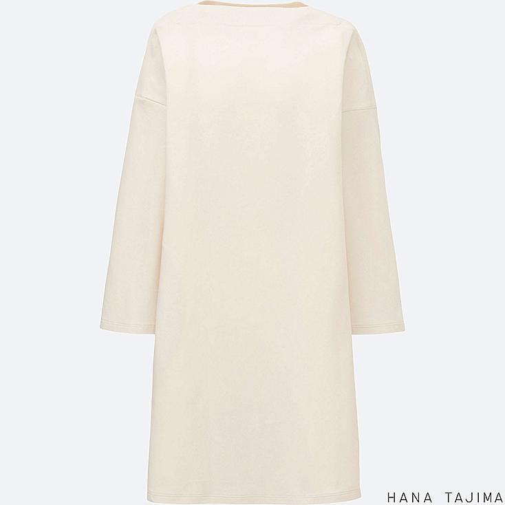WOMEN Hana Tajima Cotton Modal Boat Neck Long Sleeve Tunic