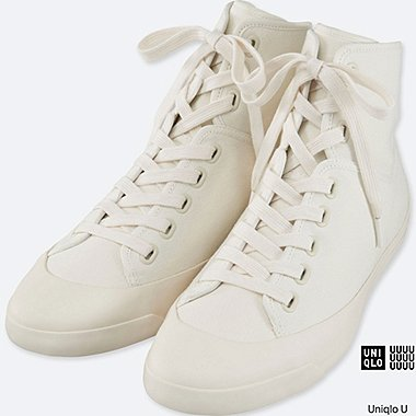 UNISEX Uniqlo U Canvas Hi-Cut Sneakers