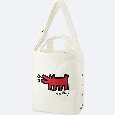 SPRZ NY TOTE BAG (KEITH HARING), OFF WHITE, medium
