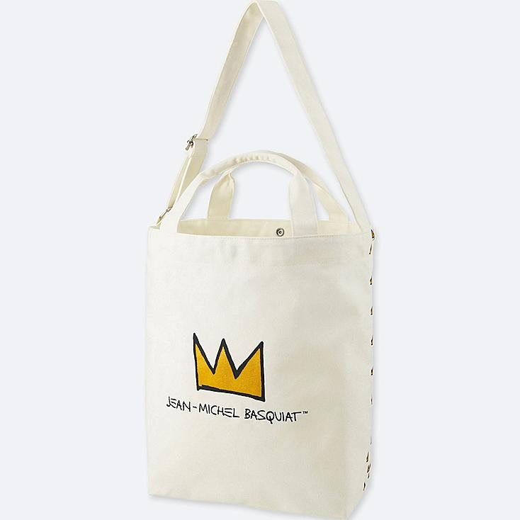 SPRZ NY TOTE BAG (JEAN-MICHEL BASQUIAT), OFF WHITE, large