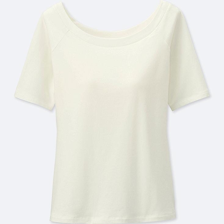 WOMEN Bra Ballet Neck Short Sleeve T-Shirt