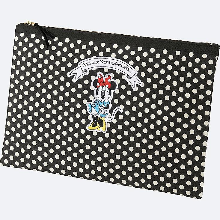 WOMEN Disney (MINNIE MOUSE LOVES DOTS) CLUTCH BAG, OFF WHITE, large