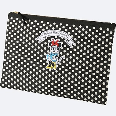 WOMEN Disney (MINNIE MOUSE LOVES DOTS) CLUTCH BAG, OFF WHITE, medium