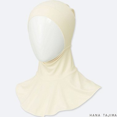 WOMEN AIRism INNER HIJAB, OFF WHITE, medium