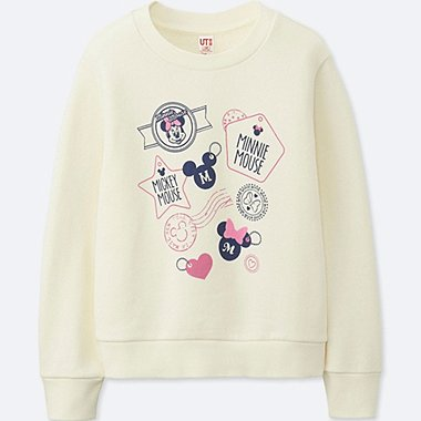 GIRLS MICKEY TRAVELS GRAPHIC SWEATSHIRT, OFF WHITE, medium