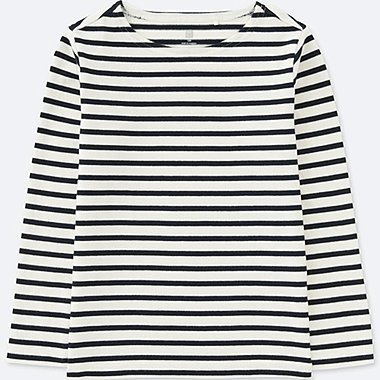 KIDS STRIPED BOATNECK LONG-SLEEVE T-SHIRT, OFF WHITE, medium