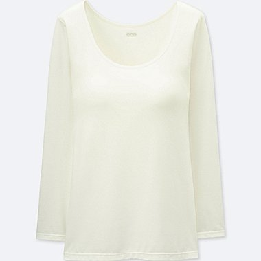 WOMEN HEATTECH BRA SCOOP NECK T-SHIRT