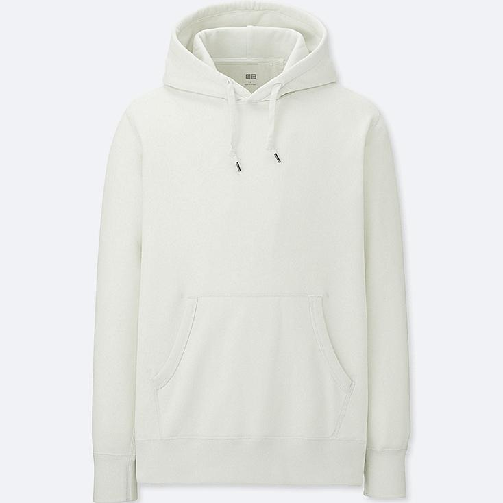 MEN LONG-SLEEVE SWEAT PULLOVER HOODIE, OFF WHITE, large