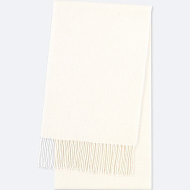 CASHMERE SCARF, OFF WHITE, medium