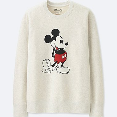 MEN MICKEY STANDS LONG-SLEEVE SWEATSHIRT, OFF WHITE, medium
