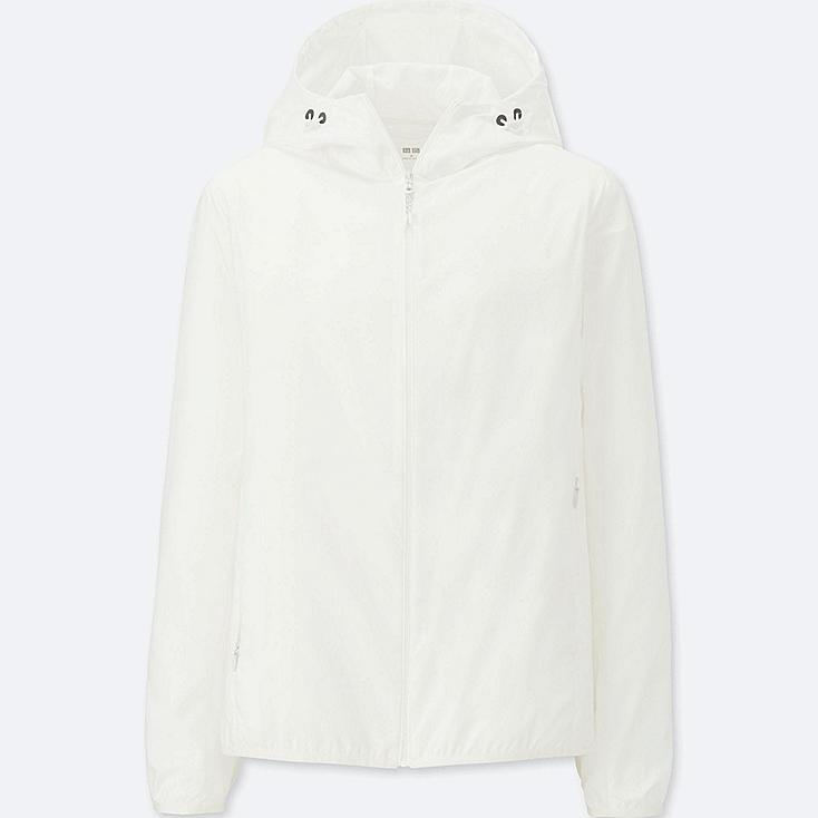 WOMEN POCKETABLE PARKA, OFF WHITE, large