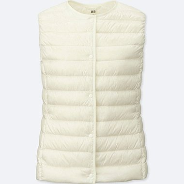 Women Ultra Light Down Compact Vest, OFF WHITE, medium
