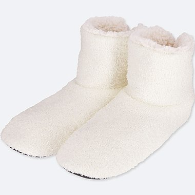 SLIPPERS, OFF WHITE, medium