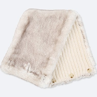 WOMEN FAUX SHEARLING SNOOD
