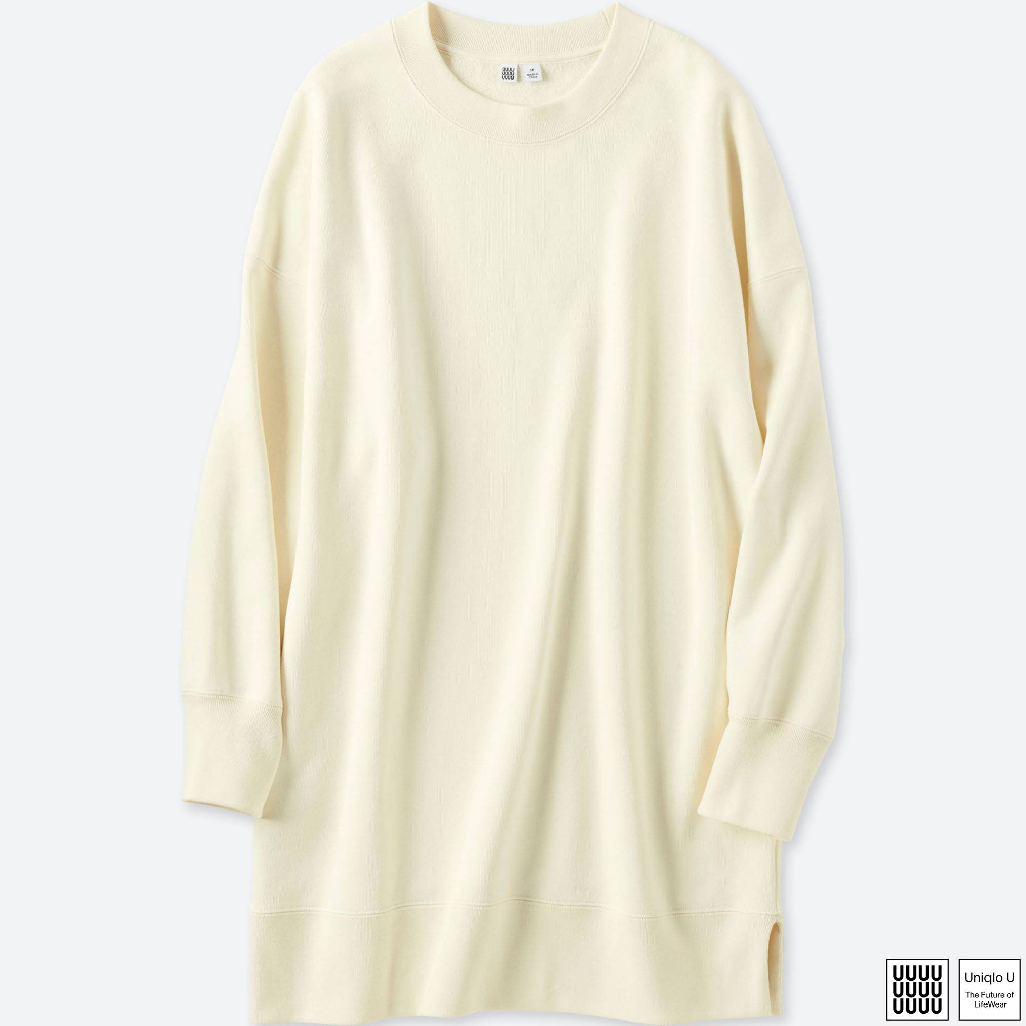 WOMEN U OVERSIZE SWEAT LONG-SLEEVE PULLOVER | UNIQLO US