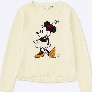 KIDS MICKEY STANDS LONG-SLEEVE SWEATER, OFF WHITE, medium