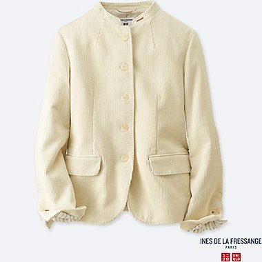 WOMEN IDLF CORDUROY JACKET, OFF WHITE, medium