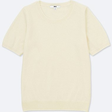 WOMEN CASHMERE CREW NECK SWEATER (ONLINE EXCLUSIVE), OFF WHITE, medium