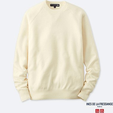 MEN INES CASHMERE CREW NECK LONG SLEEVE SWEATER