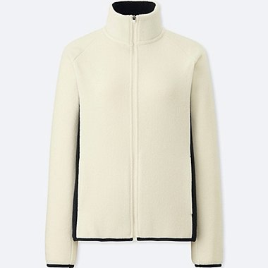 WOMEN FLEECE LONG SLEEVE FULL-ZIP JACKET