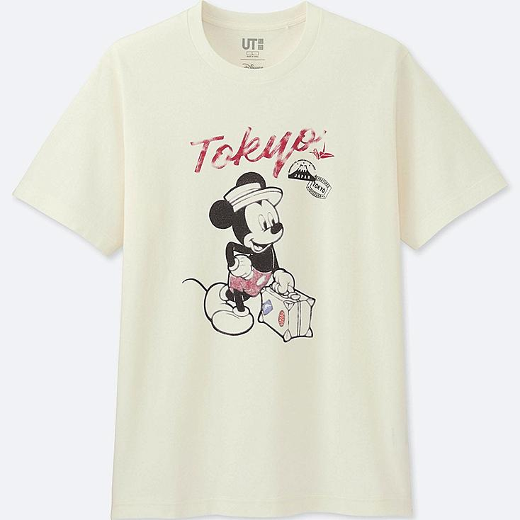MEN MICKEY TRAVELS SHORT SLEEVE GRAPHIC T-SHIRT
