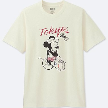 HERREN T-SHIRT BEDRUCKT MICKEY TRAVELS