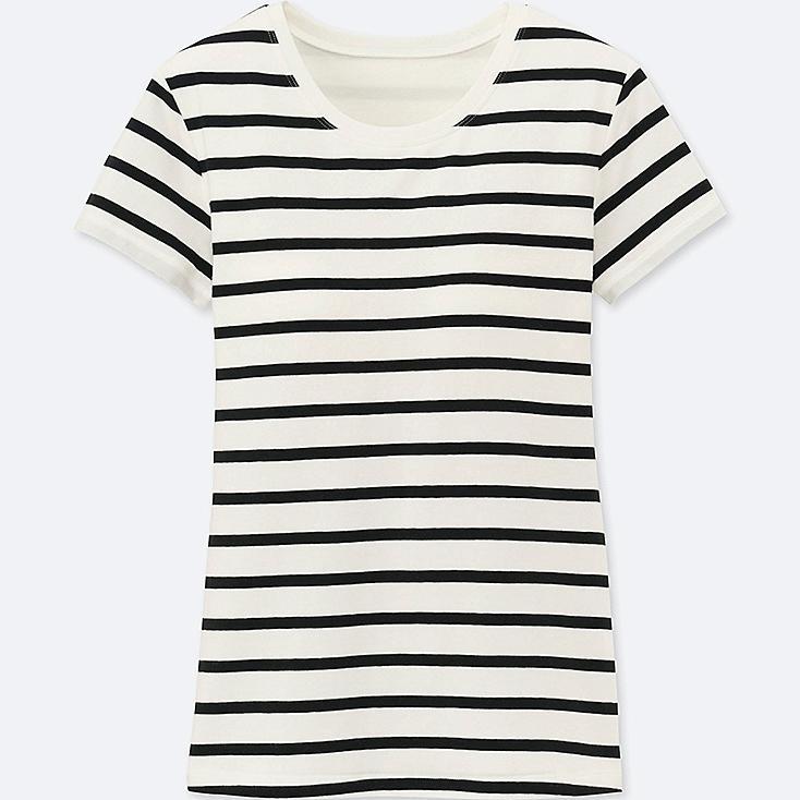 WOMEN Bra Crew Neck Short Sleeve T-Shirt