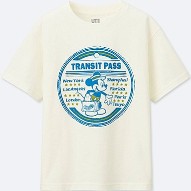 BOYS MICKEY TRAVELS SHORT-SLEEVE GRAPHIC T-SHIRT, OFF WHITE, medium