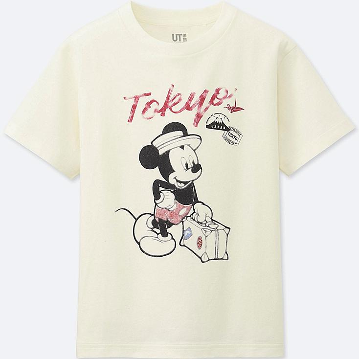 BOYS MICKEY TRAVELS SHORT-SLEEVE GRAPHIC T-SHIRT, OFF WHITE, large