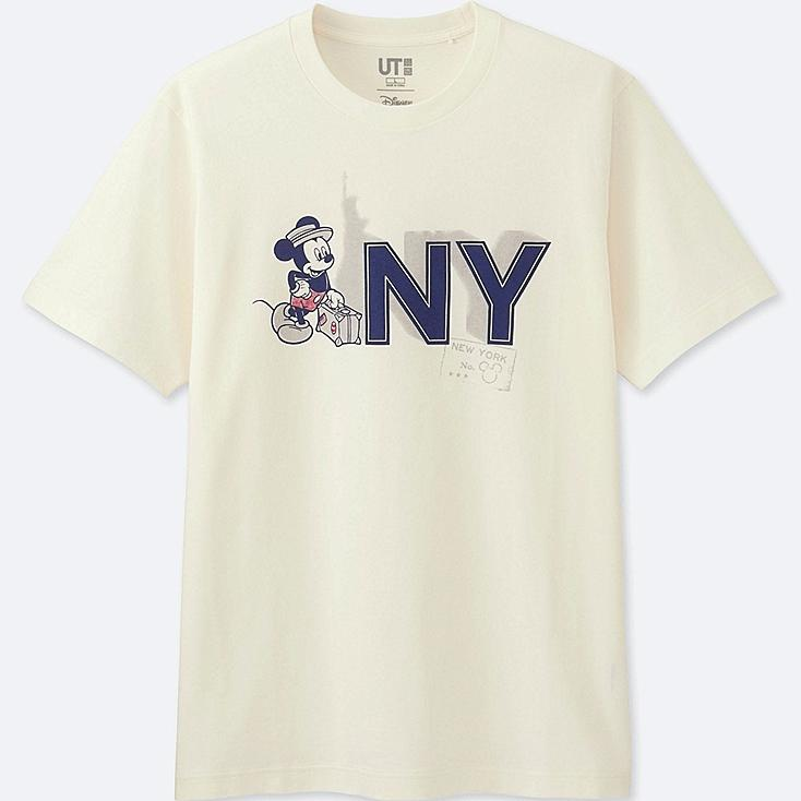 MEN MICKEY TRAVELS SHORT-SLEEVE GRAPHIC T-SHIRT, OFF WHITE, large