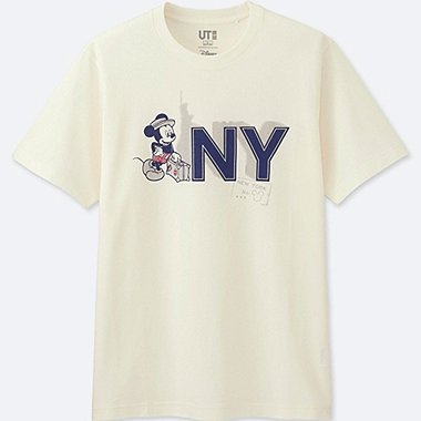 MEN MICKEY TRAVELS SHORT-SLEEVE GRAPHIC T-SHIRT, OFF WHITE, medium