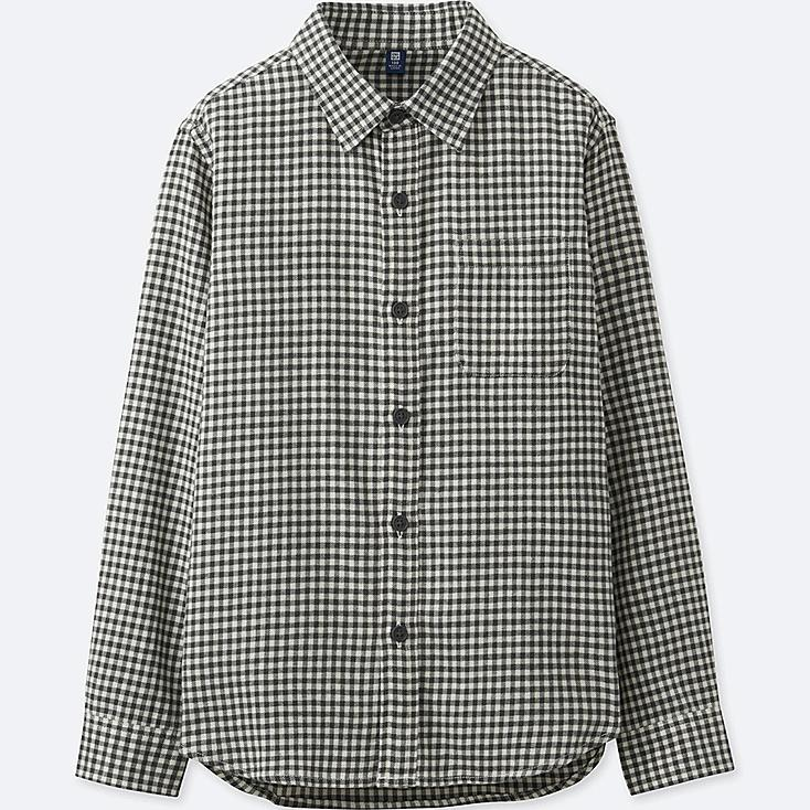 BOYS FLANNEL CHECKED LONG SLEEVE SHIRT