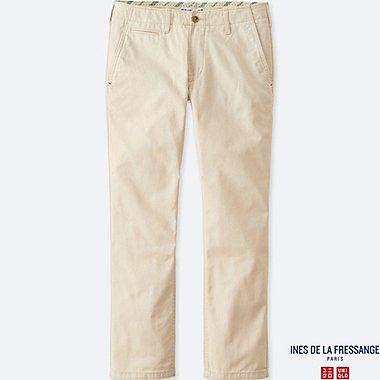 WOMEN IDLF SLUB CHINO PANTS, OFF WHITE, medium